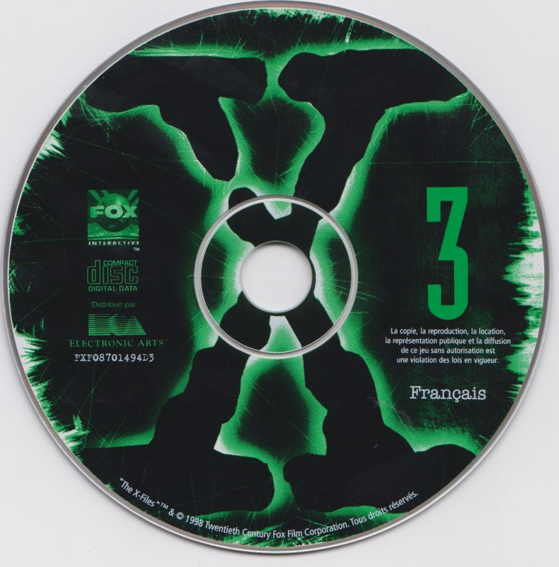 The X-Files Game Windows Media Disc 3/7