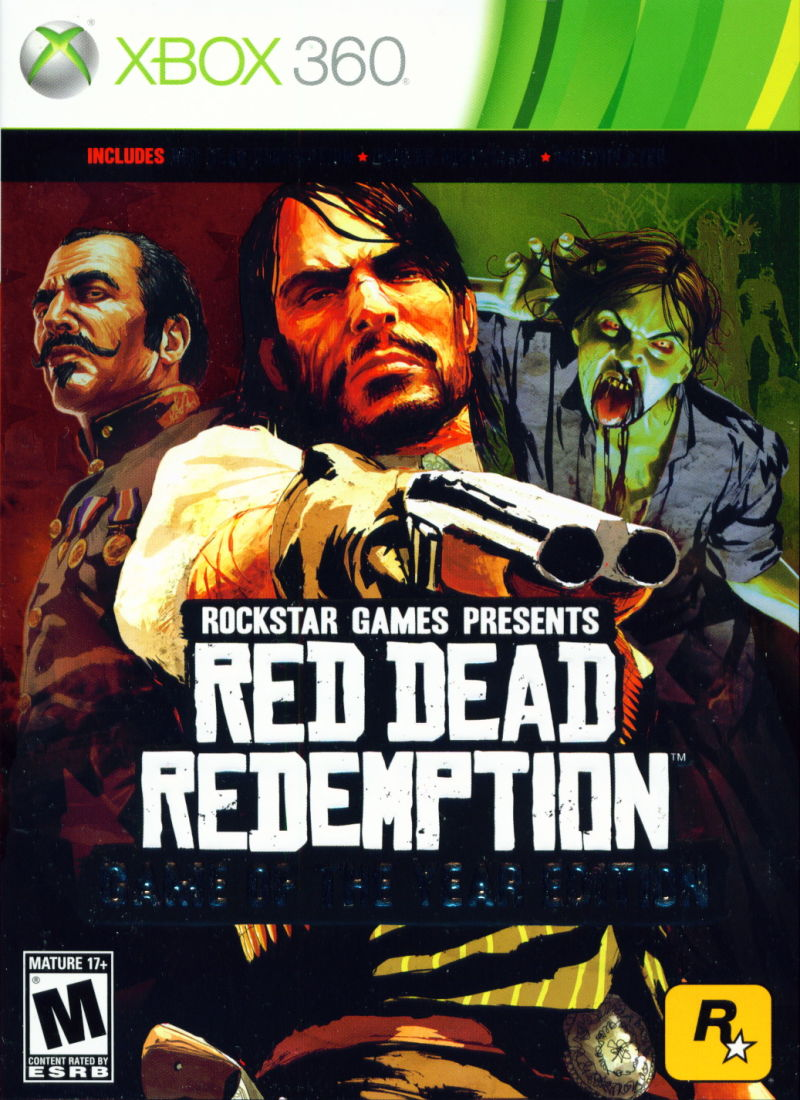 Red Dead Redemption (Game of the Year Edition) Xbox 360 Front Cover