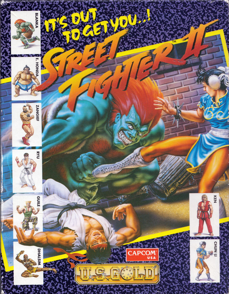 Street Fighter Ii The World Warrior For Atari St 1992 Mobygames