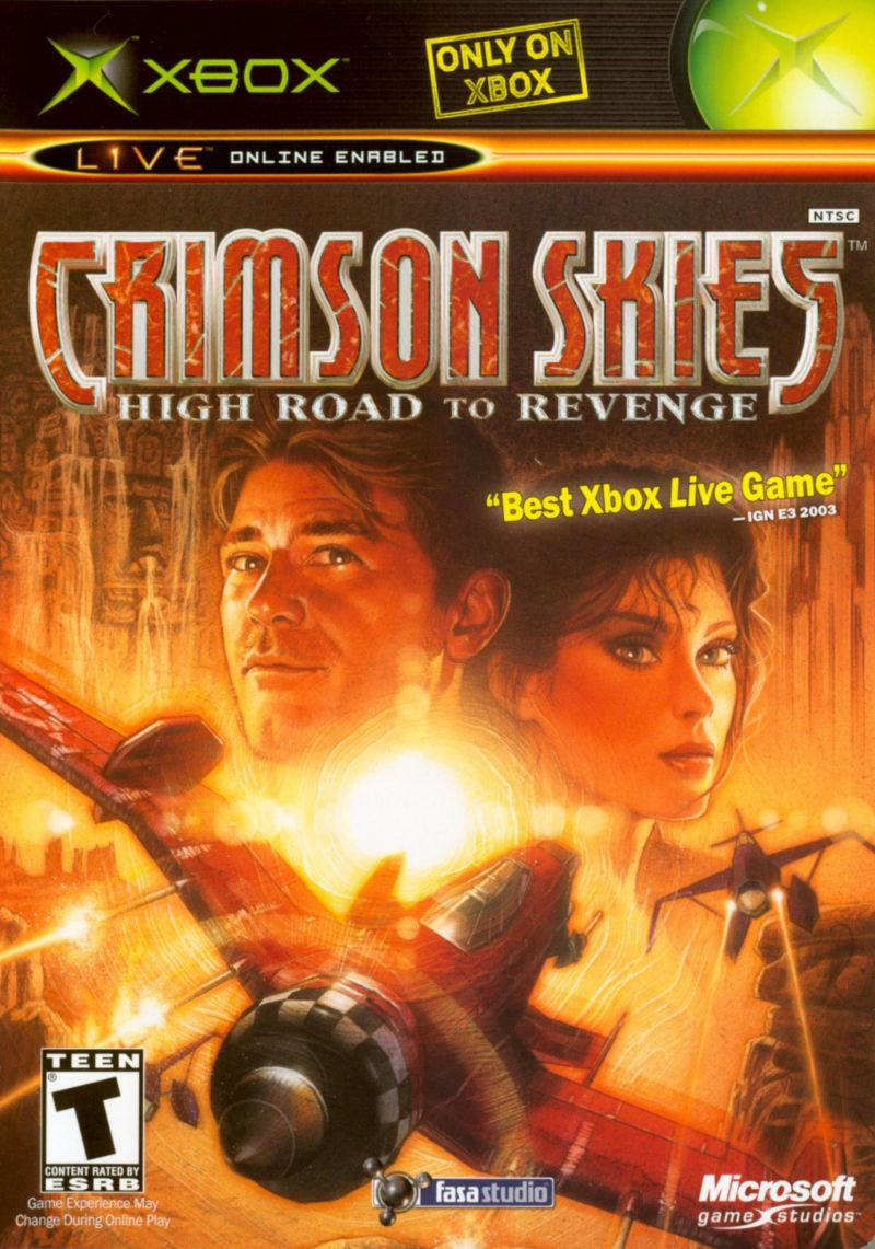 Book Cover Pictures Xbox : Crimson skies high road to revenge for xbox
