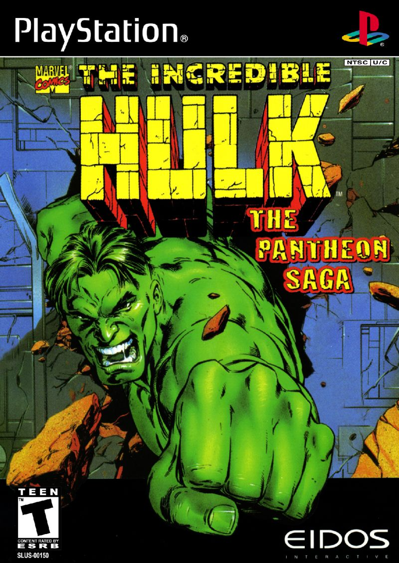 The Incredible Hulk: The Pantheon Saga PlayStation Front Cover