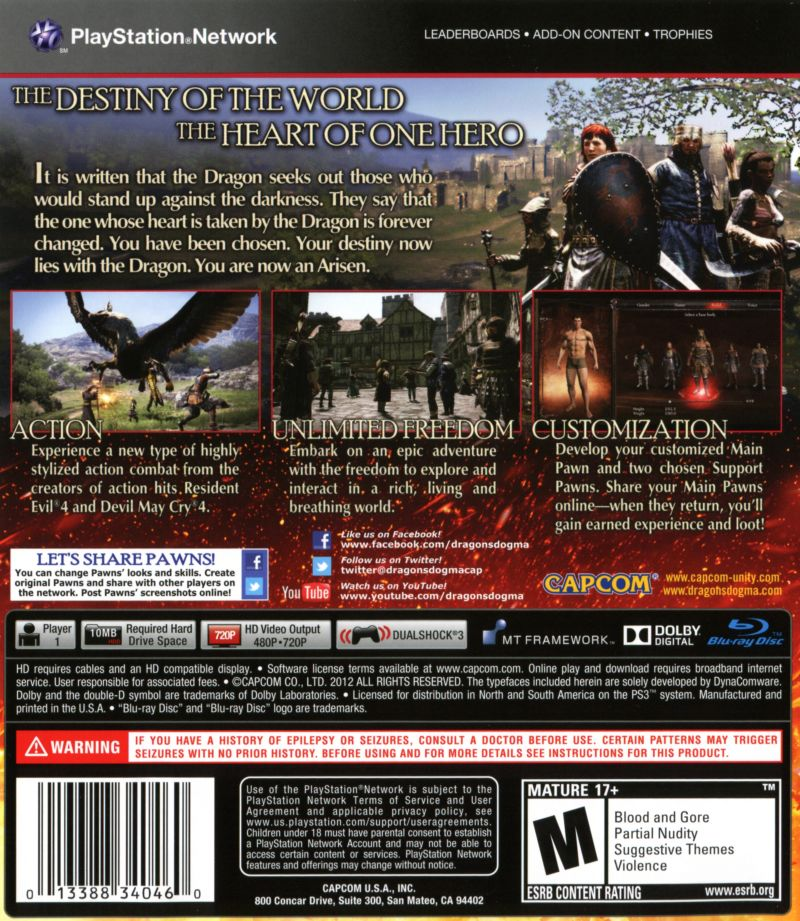Dragon S Dogma 2012 Playstation 3 Box Cover Art Mobygames