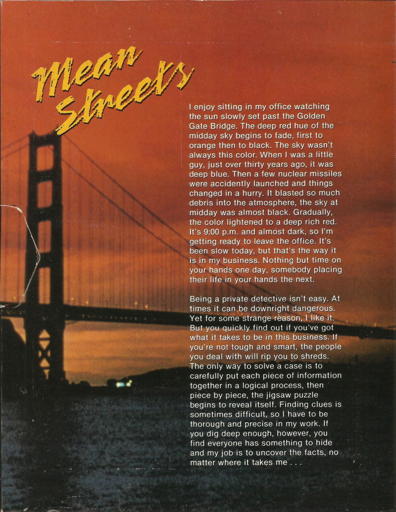 Mean Streets DOS Inside Cover Left