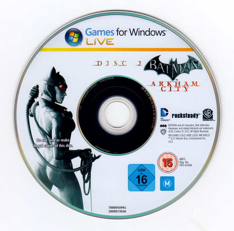 Batman: Arkham City - Game of the Year Edition Windows Media Disc 2