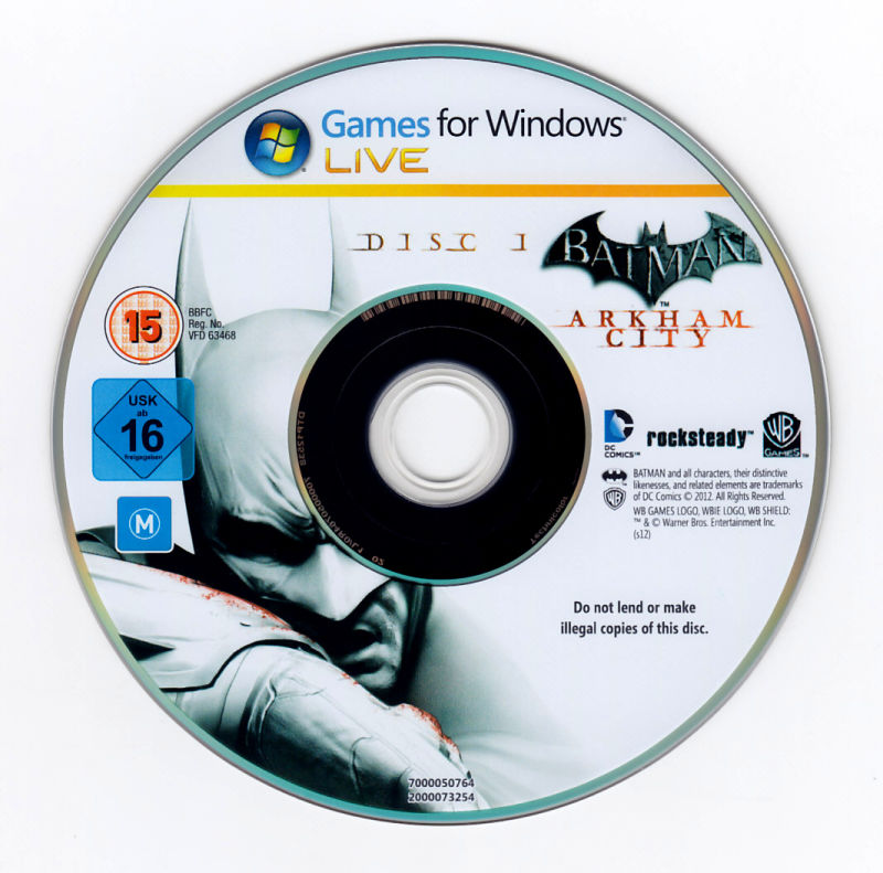 Batman: Arkham City - Game of the Year Edition Windows Media Disc 1