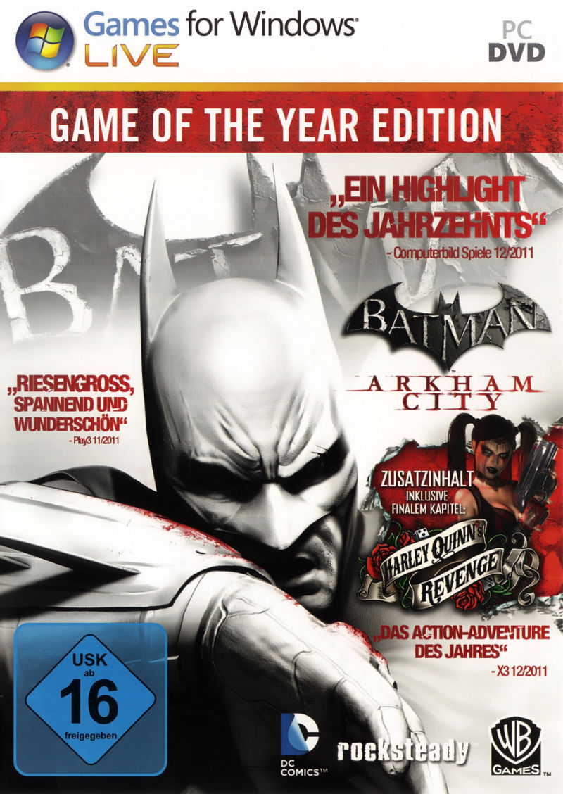 Batman: Arkham City - Game of the Year Edition Windows Front Cover
