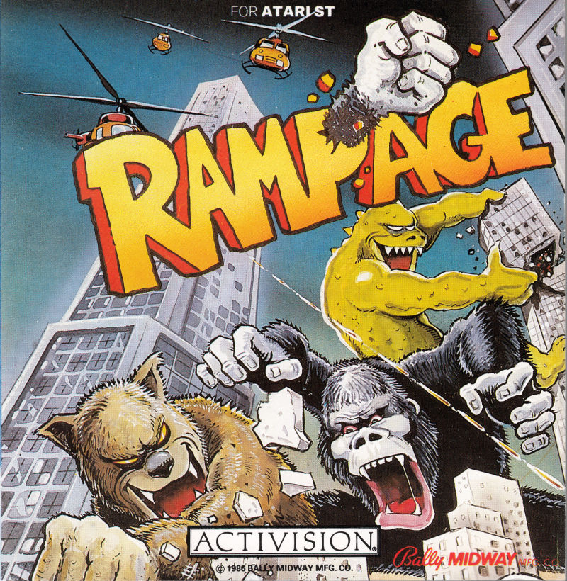 Rampage Atari ST Front Cover