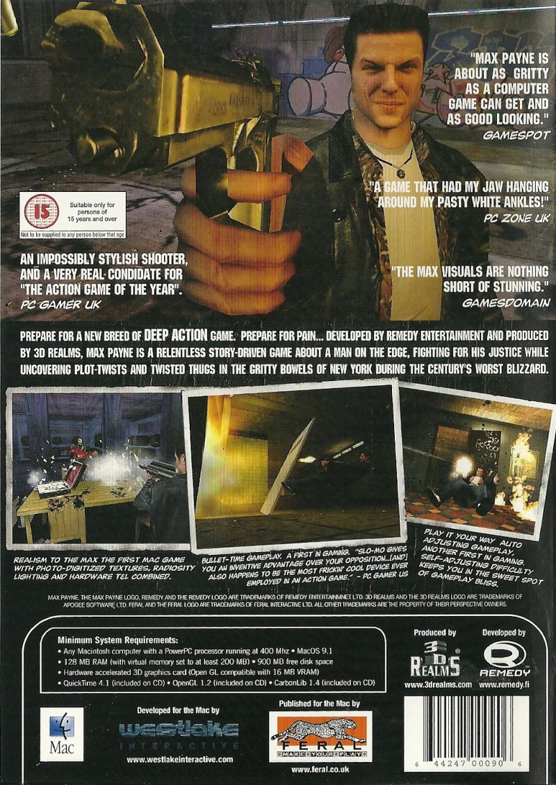 Max Payne Macintosh Back Cover