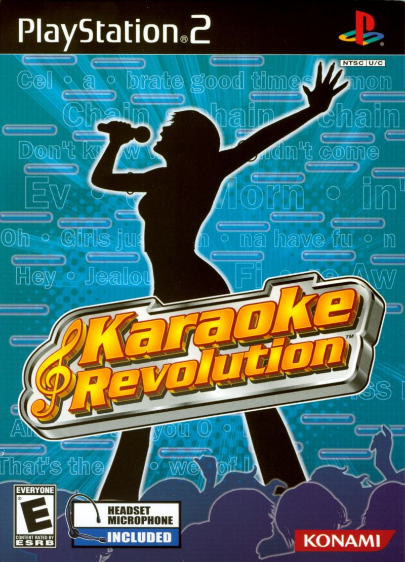 Karaoke Revolution PlayStation 2 Front Cover