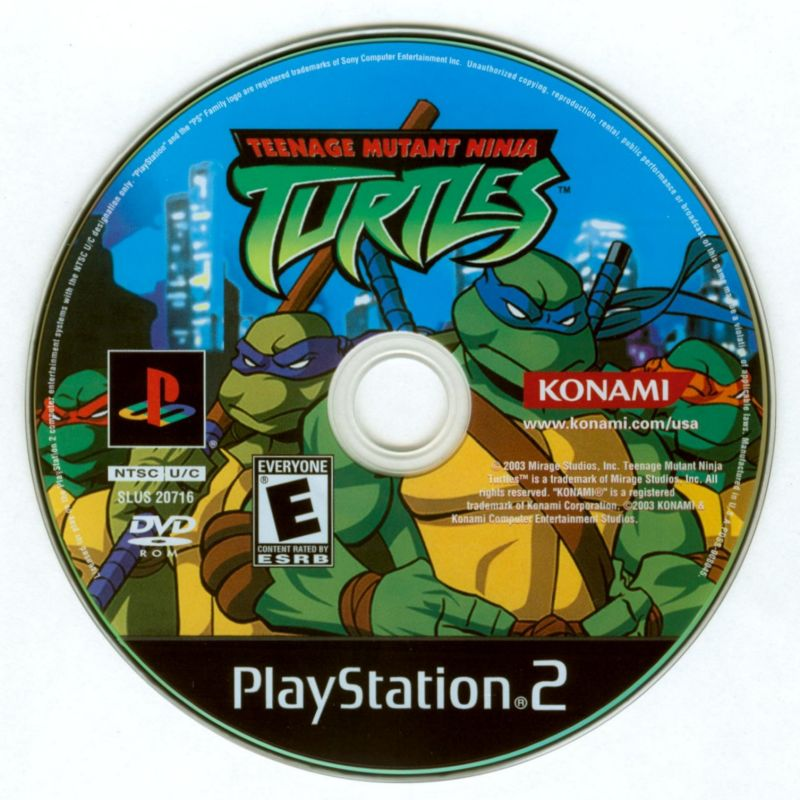 Teenage Mutant Ninja Turtles PlayStation 2 Media