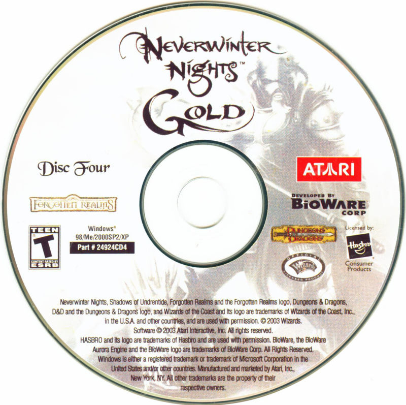 Neverwinter Nights: Gold Windows Media Disc 4