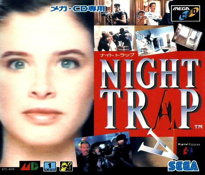 Night Trap SEGA CD Front Cover