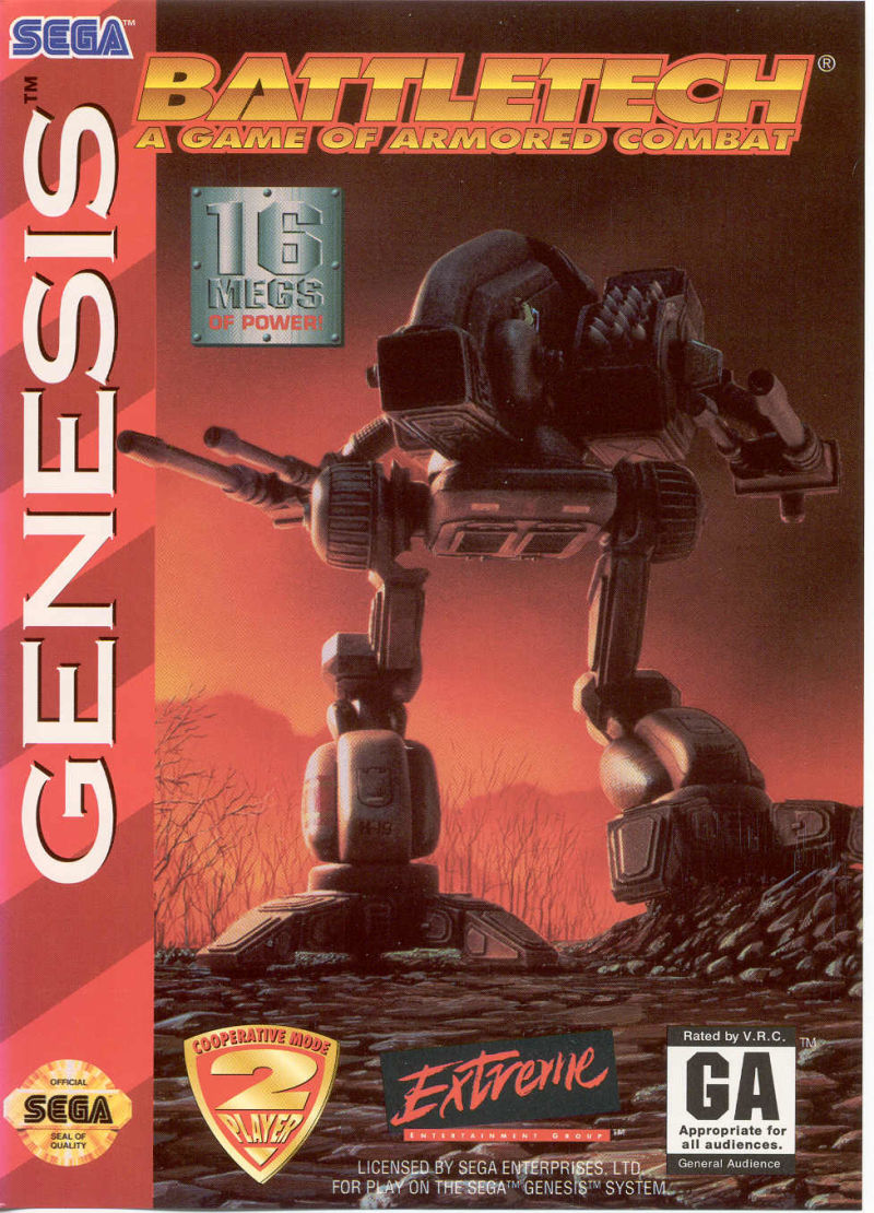 Games For 3 Year Olds: BattleTech: A Game Of Armored Combat For Genesis (1994