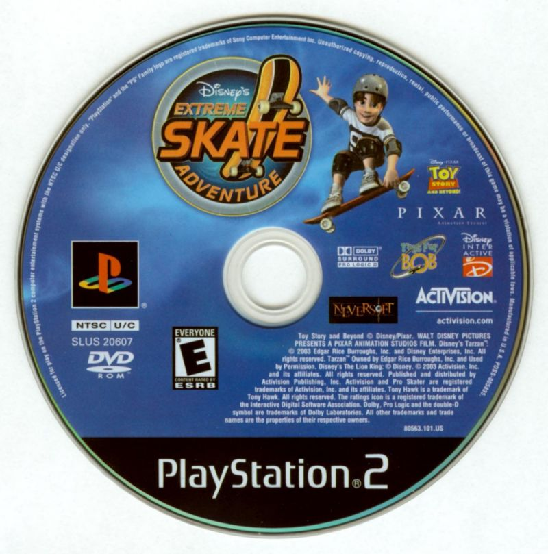 Disney S Extreme Skate Adventure 2003 Playstation 2 Box