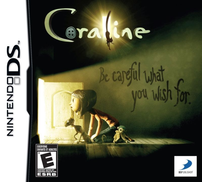 Coraline Nintendo DS Front Cover