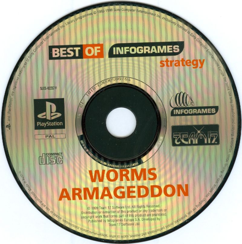 Worms Armageddon PlayStation Media