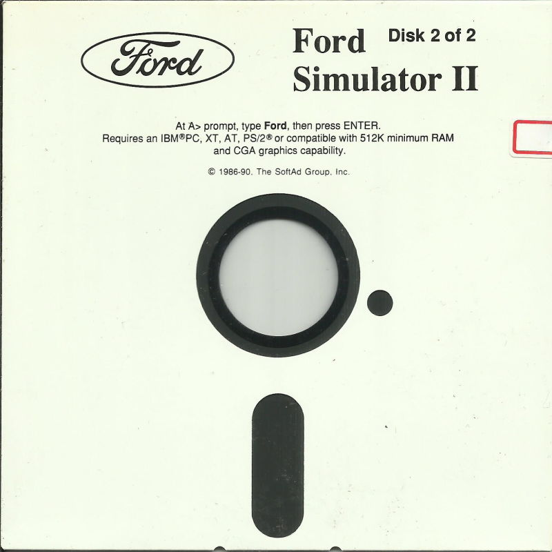 Ford Simulator II DOS Media Disk (4/4) (1990 version) *Disk (3/4) is 1989 version