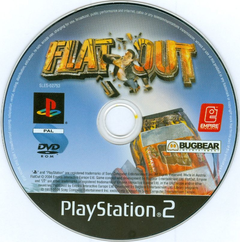FlatOut PlayStation 2 Media