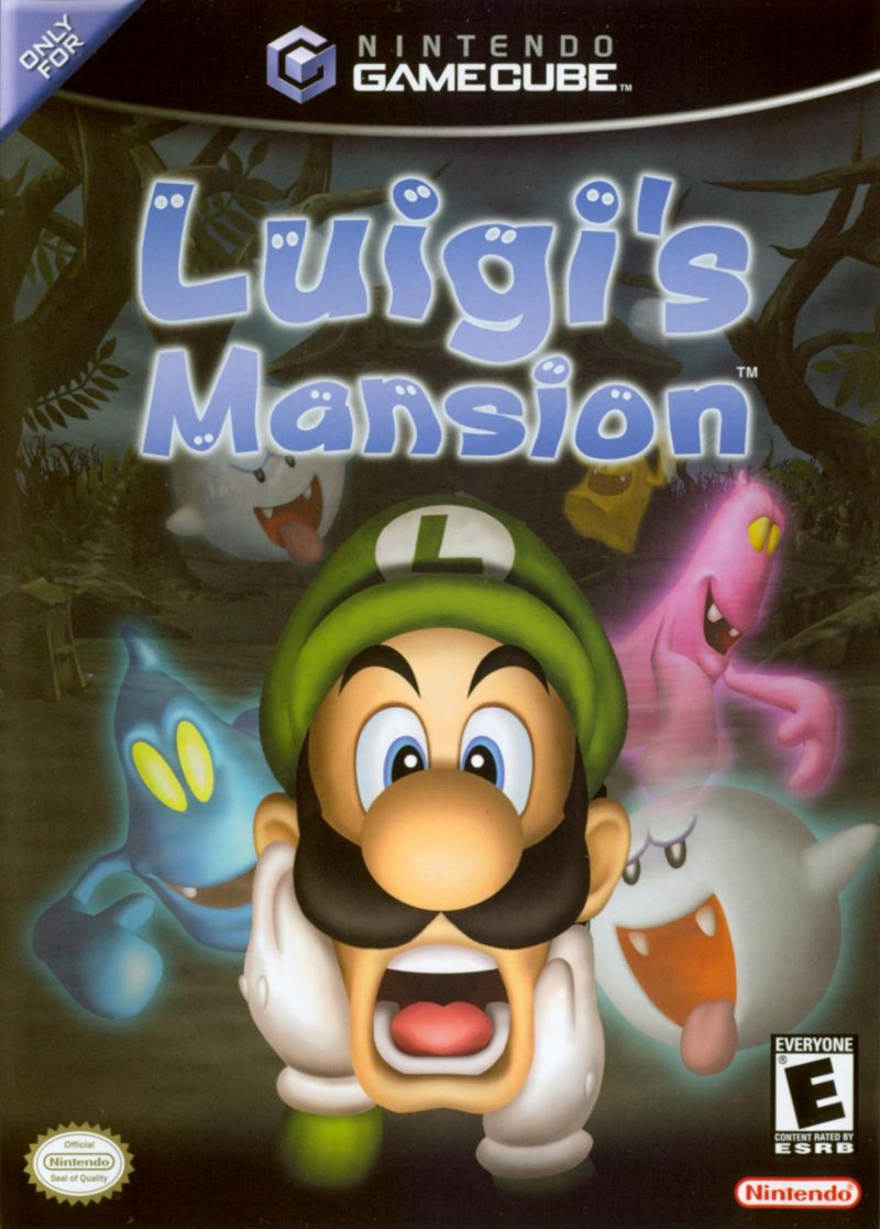 Luigi's Mansion GameCube Front Cover