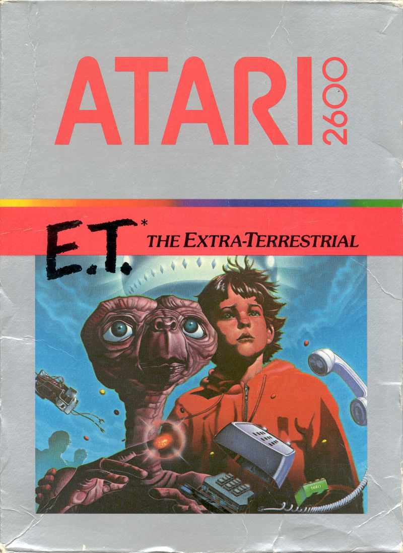 E.T. The Extra-Terrestrial Atari 2600 Front Cover