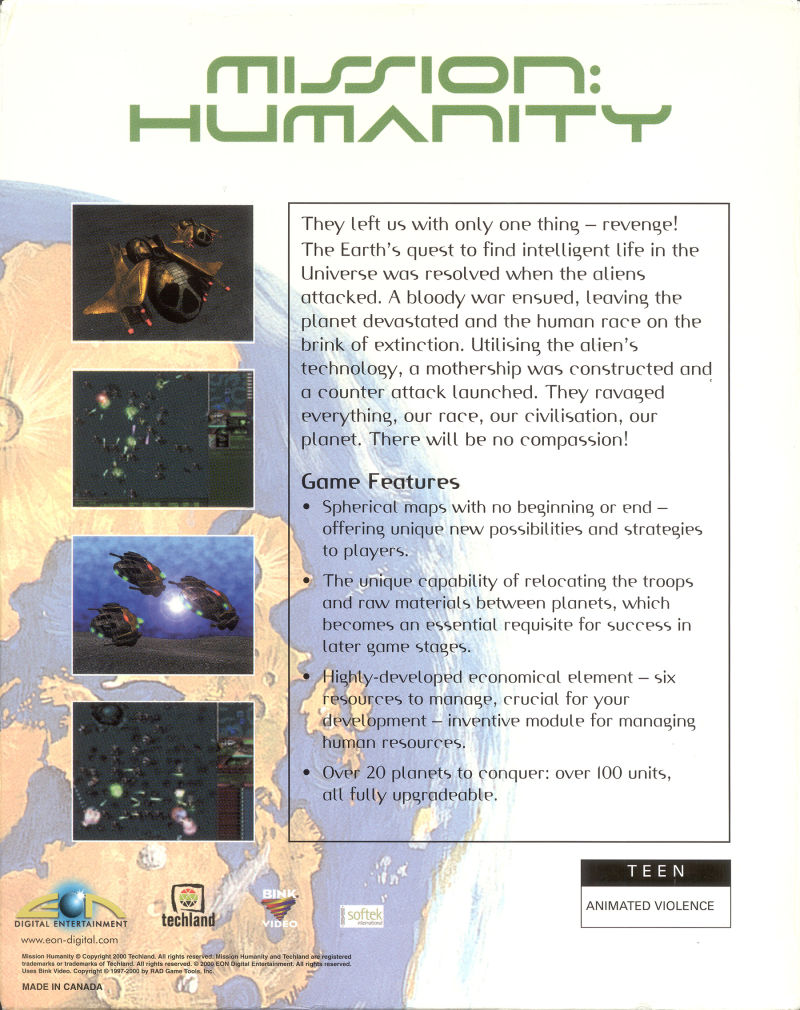 Mission: Humanity Windows Back Cover