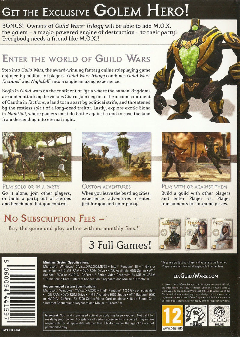 Guild Wars: Trilogy (2008) Windows box cover art - MobyGames