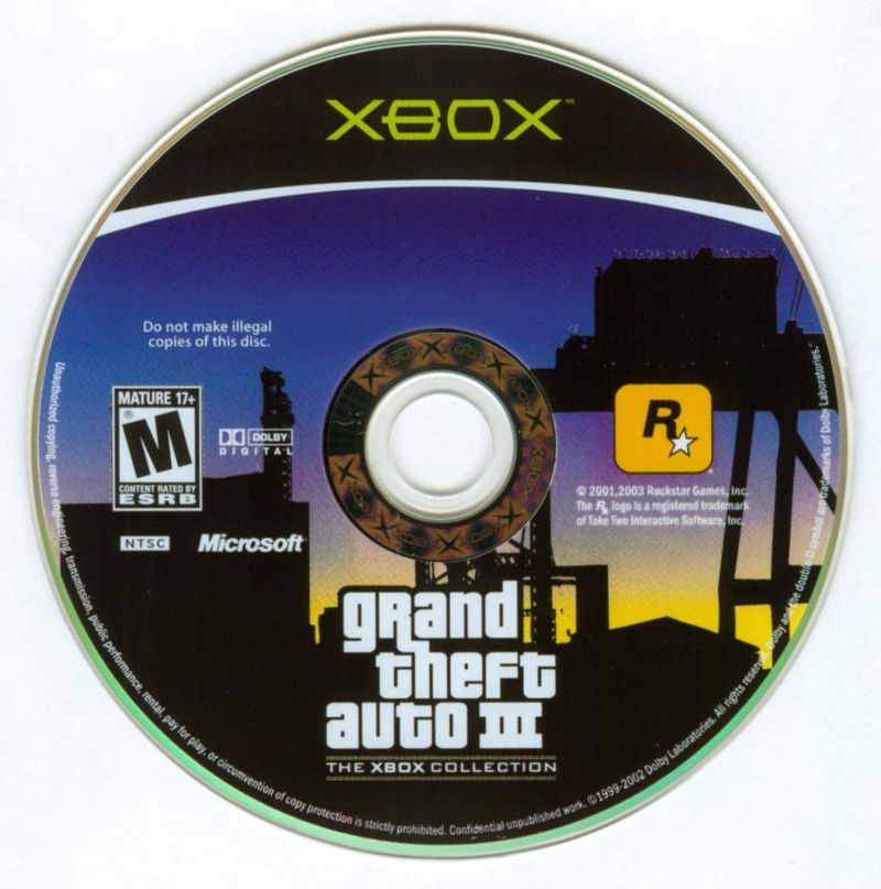 Rockstar Games Double Pack: Grand Theft Auto Xbox Media Grand Theft Auto III Disc