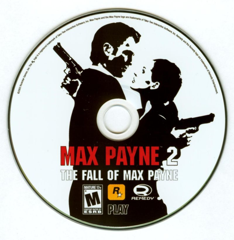 Max Payne 2: The Fall of Max Payne Windows Media Play disc