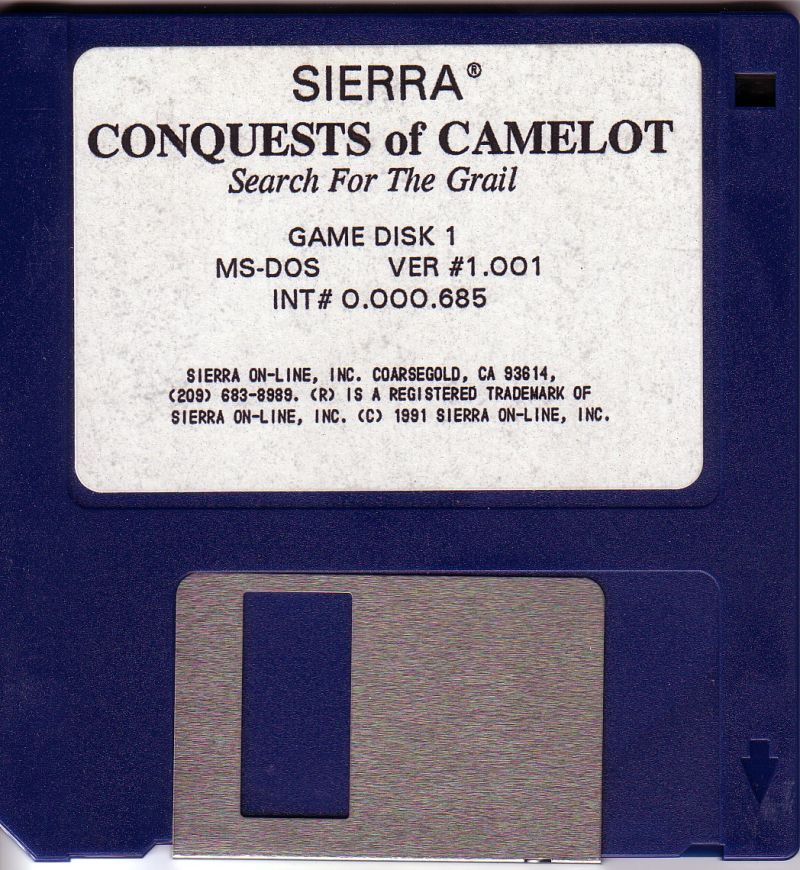 Conquests of Camelot: The Search for the Grail DOS Media