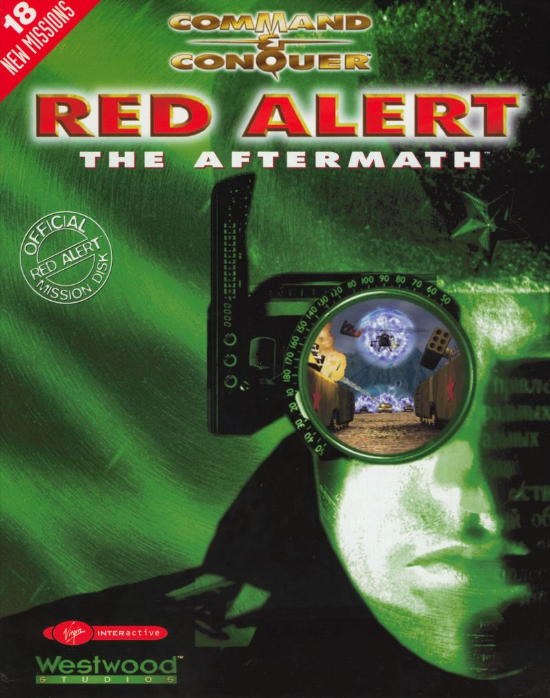 Command & Conquer: Red Alert - The Aftermath DOS Front Cover
