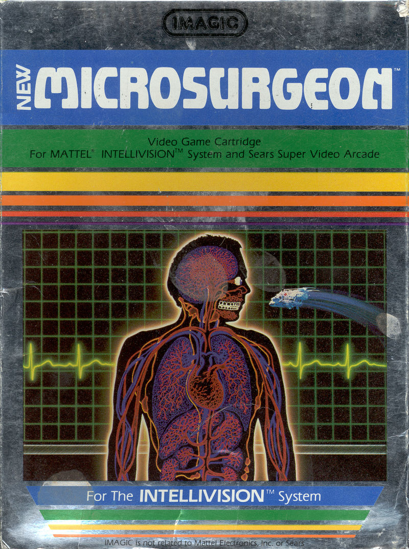 Microsurgeon Intellivision Front Cover