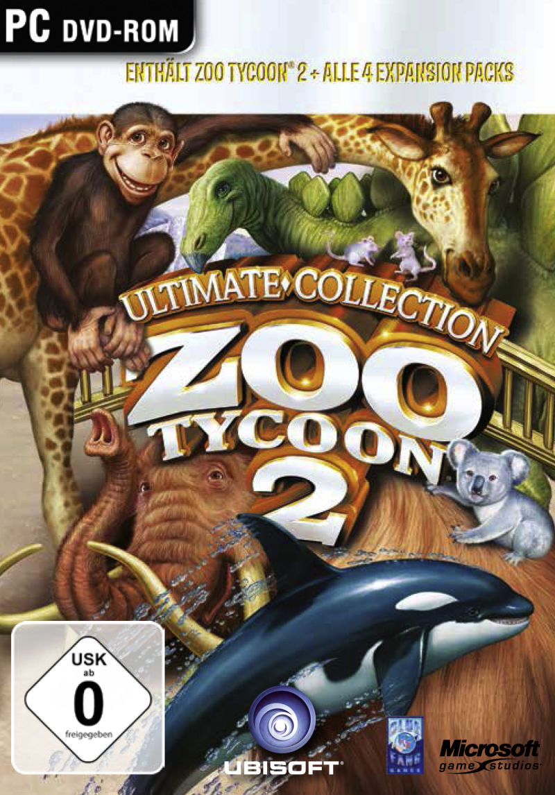 Zoo Tycoon 2 Ultimate Collection 2008 Windows Box Cover
