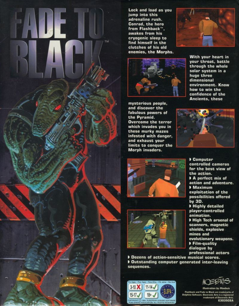 Fade to Black DOS Back Cover