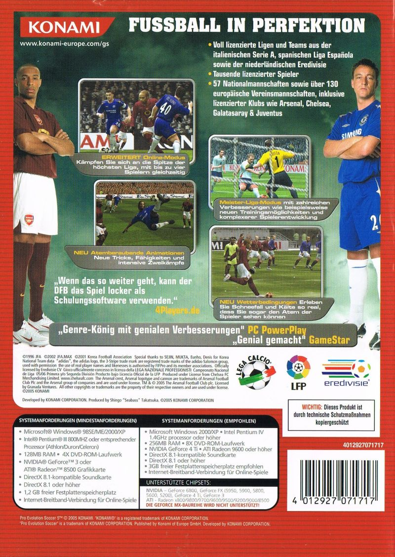 World Soccer: Winning Eleven 9 Windows Back Cover