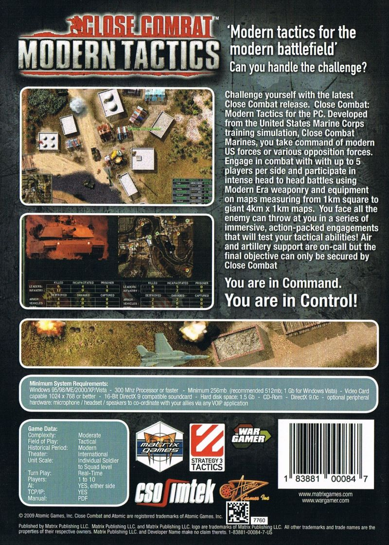 Close Combat: Modern Tactics (2007) Windows box cover art