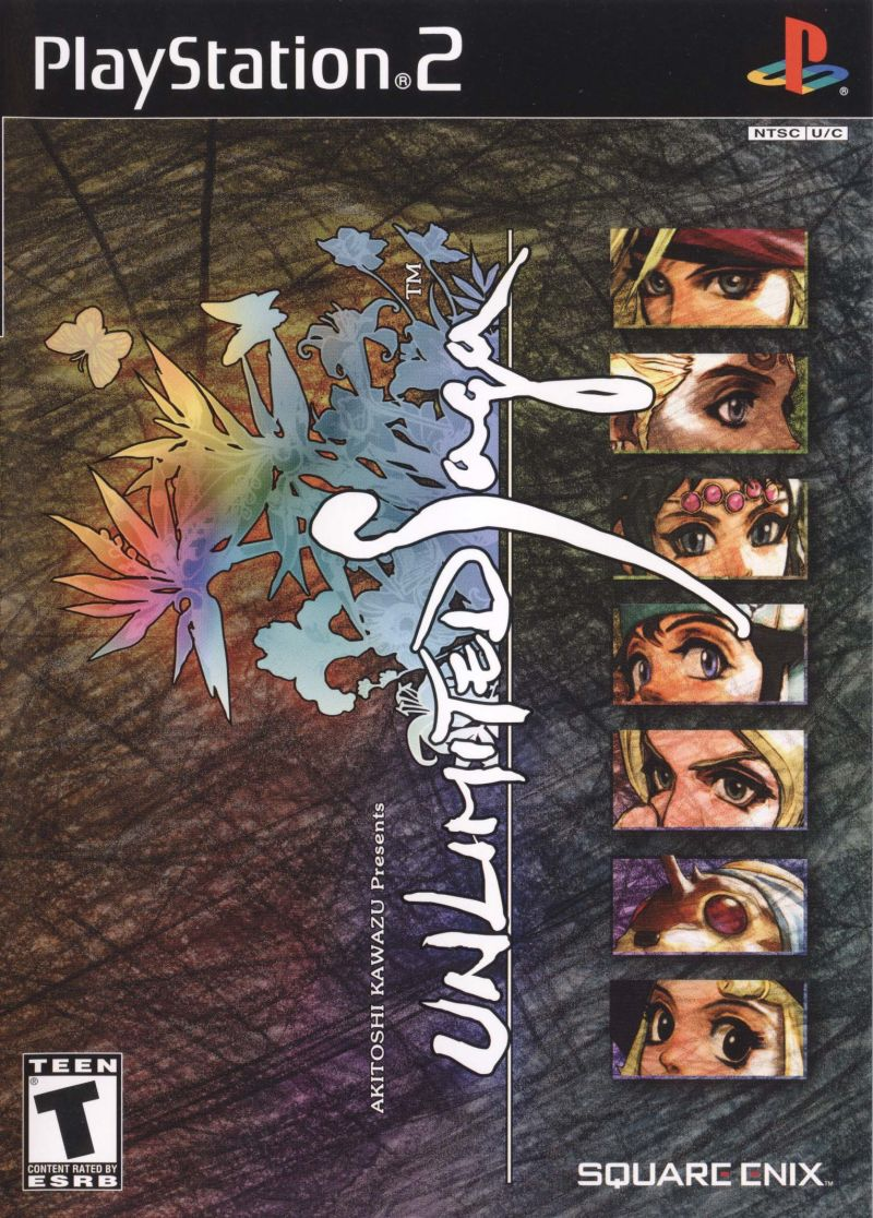 Unlimited Saga PlayStation 2 Front Cover
