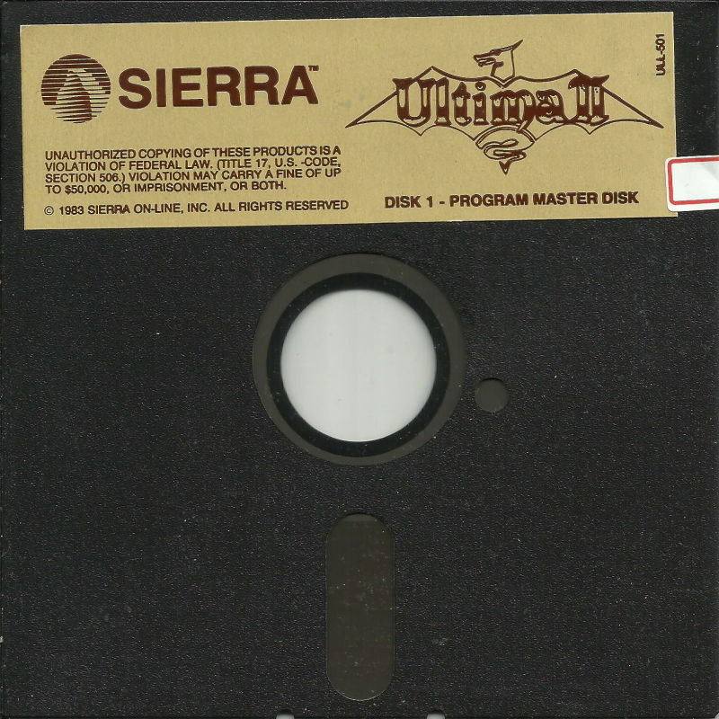 Ultima II: The Revenge of the Enchantress... DOS Media Disk 1/3