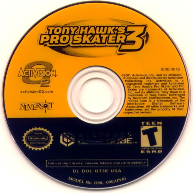 Tony Hawk's Pro Skater 3 GameCube Media