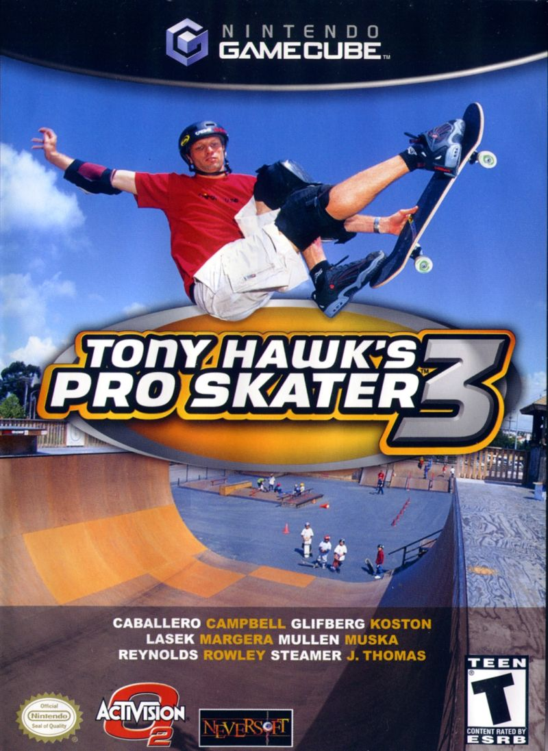 Tony Hawk's Pro Skater 3 GameCube Front Cover