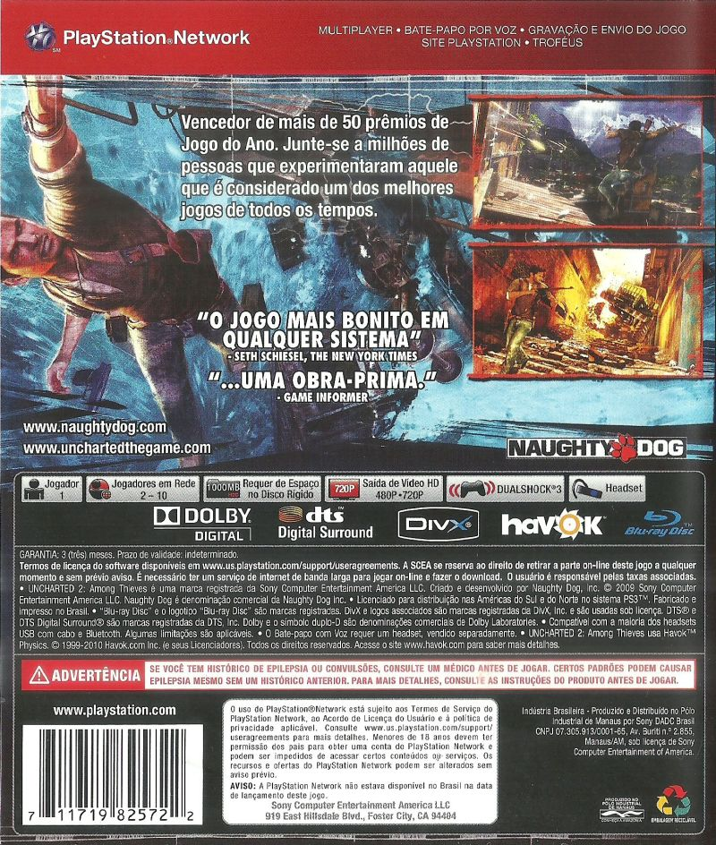 Uncharted 2 Among Thieves Game Of The Year Edition 2010 Playstation 3 Box Cover Art Mobygames