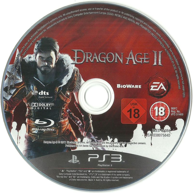 Dragon Age II PlayStation 3 Media