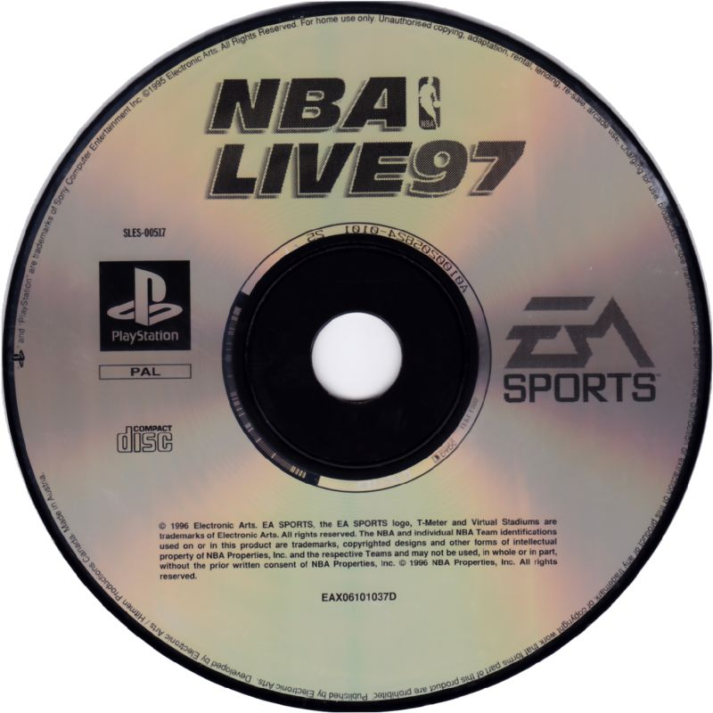 NBA Live 97 PlayStation Media