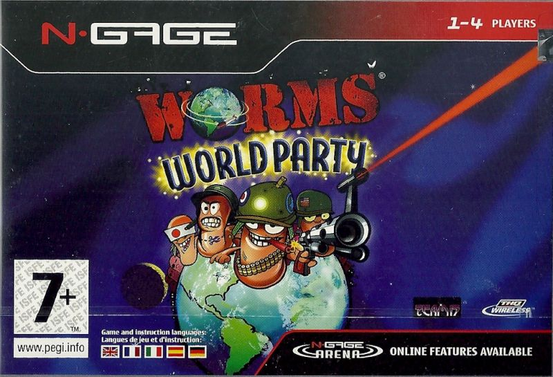 Worms World Party N-Gage Front Cover