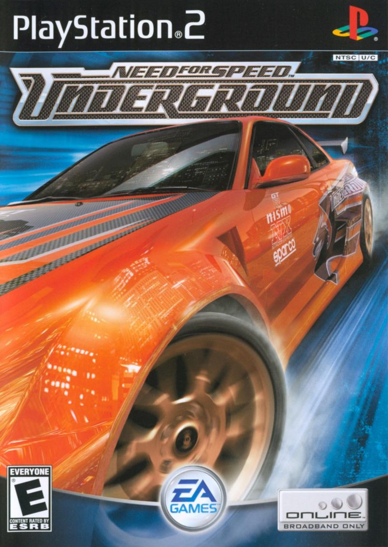 Need For Speed Underground Playstation Front Cover