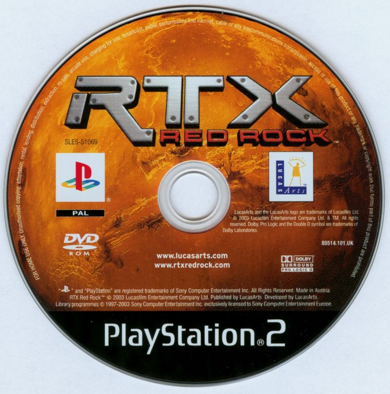RTX: Red Rock PlayStation 2 Media