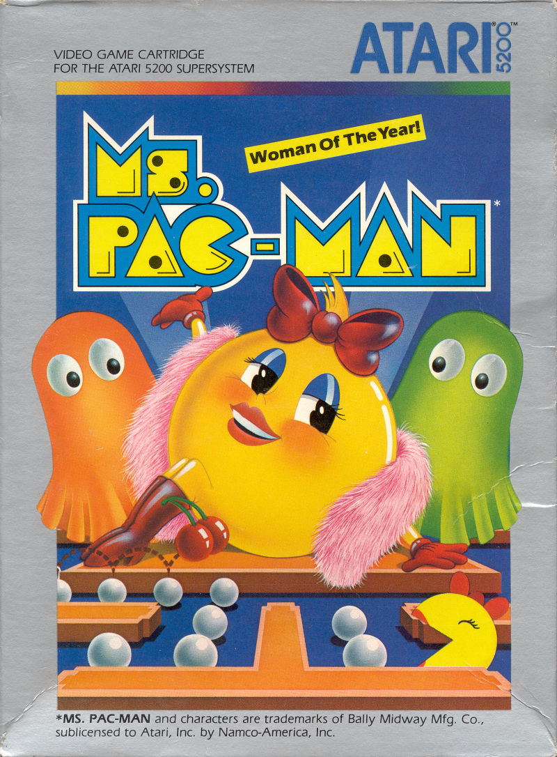 Ms. Pac-Man Atari 5200 Front Cover