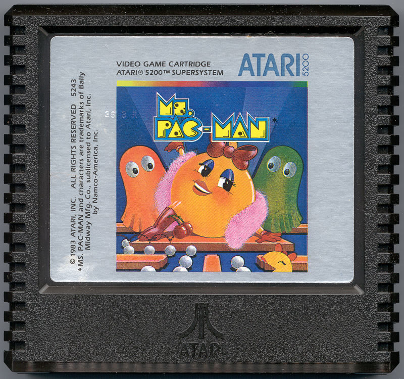 Ms. Pac-Man Atari 5200 Media