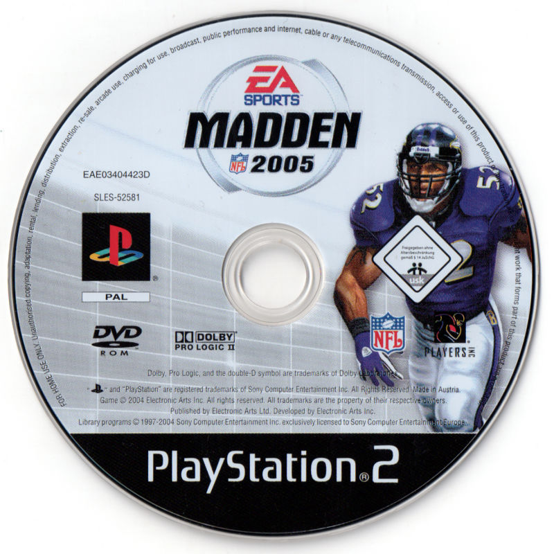 Madden NFL 2005 PlayStation 2 Media