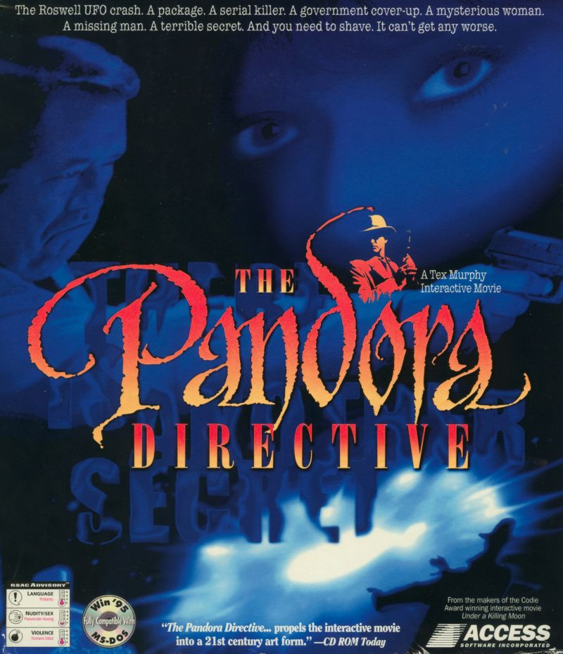 The Pandora Directive DOS Front Cover