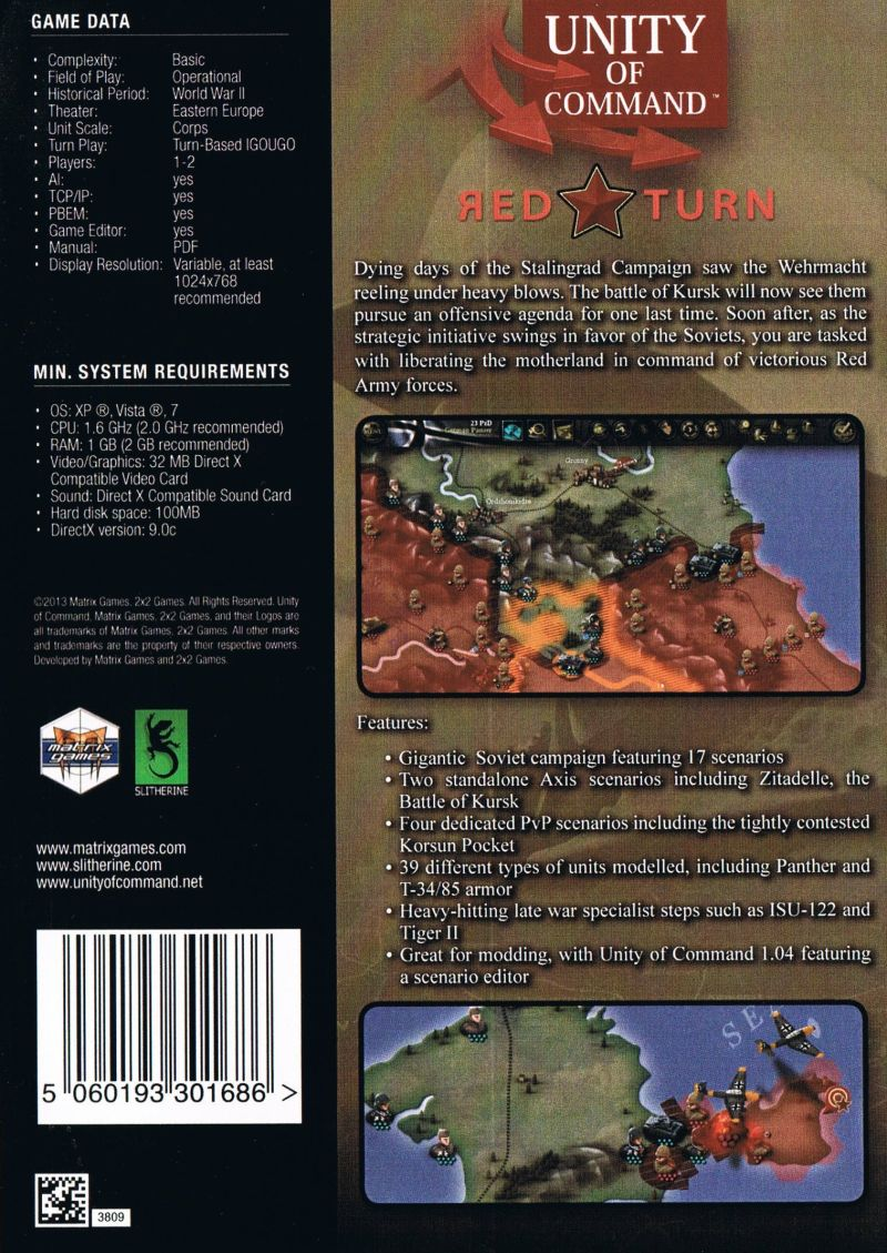 Unity of Command: Red Turn (2013) Macintosh box cover art